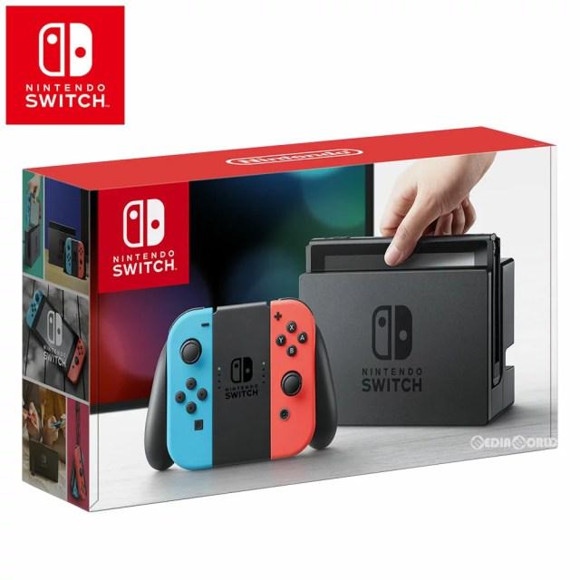 【新品即納】[本体][Switch]ニンテンドースイッチ Nintendo Switch Joy-Con(L) ネオンブルー/(R) ネオンレッド(HAC-S-KABAA)(20170303)【RCP】
