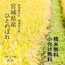 《厳選米!》特別栽培米 宮城県登米産 環境保全米 ひとめぼれ令和2年 玄米 30kg 【調整済玄米!】【送料無料】【精米 又は 小分け無料】