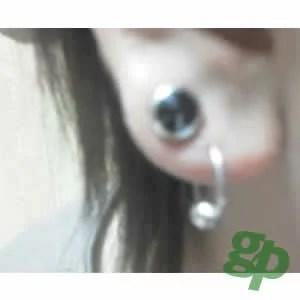 暇人さんの耳のボディーピアス写真☆ジュエルトンネル/00ゲージ(GG)(M)00G ボディピアス