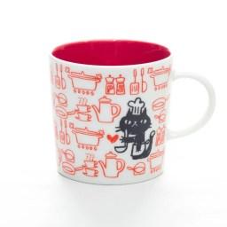 MUGOO。黒猫とパターン柄がオシャレでかわいいデザインマグ