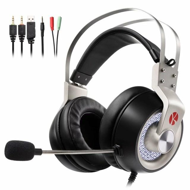 【ポイント10倍 -3/21 19:59】KEYNICE ゲーミングヘッドセット ps4 イヤホン ヘッドホン ステレオ 高音質 マイク付き 3.5mmコネクタ 4極変換ケーブル付き