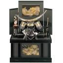 五月人形 収納兜飾り 向かい龍政宗 12号 コンパクト収納 端午の節句 皇宸作 A-029