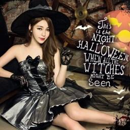 ハロウィン コスプレ 魔女 ウィッチ 悪魔 小悪魔 エロ コ