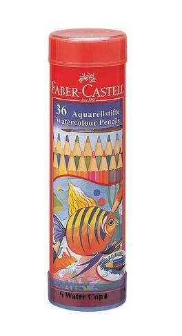 FABER-CASTELL(ファーバーカステル) 水彩色鉛筆 丸缶 36色セット TFC-115936 74821(2700) 【RCP】