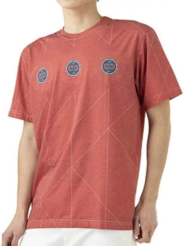 エスニック コットン Tシャツ メンズ ネイティブ柄(カラチ, 04. XL)