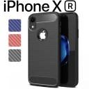 iPhoneXR ケース カーボン調 TPU スマホ カバー ソフトケース シンプルでかっこいい スタイリ……