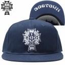 ドッグタウン DOGTOWN CROSS LOGO FLAT CAP(ネイビー NAVY/WHITE)ドッグタウンスナップバック DOGTOWNスナップバック ドッグタウン帽子..