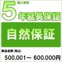 【対象商品のみ】個人5年延長保証(自然故障)商品金額 税込500,001円〜600,000円用(99990003-60)