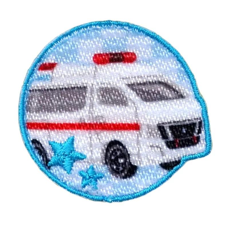 【トミカ】 日産 NV350キャラバン 救急車シール・アイロン接着両用タイプアップリケ