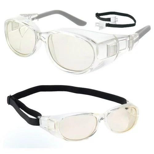 [交換用ヘッドバンド付]白内障サングラス 保護メガネ 術後専用 フード付 花粉防止 花粉症対策メガネ