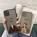 iphone ケース おもしろ LEON 黒緑 iPhone 5 se 6 7 8 SE(2020) X XR XS XSMax Plus 11 11Pro ……