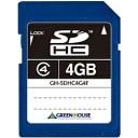 【在庫目安:あり】【送料無料】グリーンハウス GH-SDHC4G4F SDHCメモリーカード クラス4 4GB