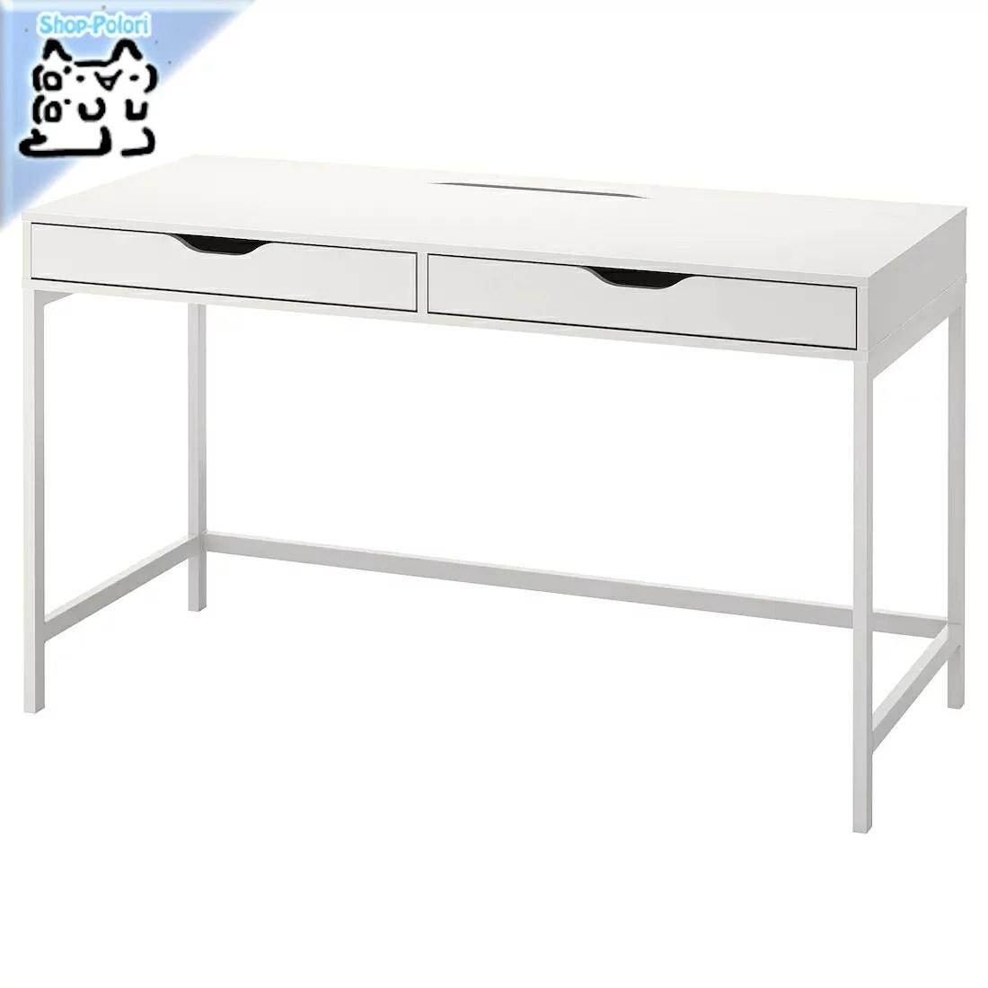 【IKEA Original】ALEX -アレクス- デスク ホワイト 132x58 cm