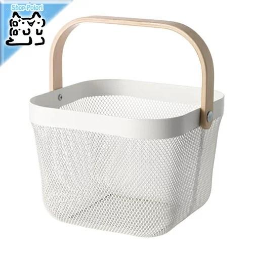 【IKEA Original】RISATORP -リーサトルプ- バスケット ホワイト 25x26x