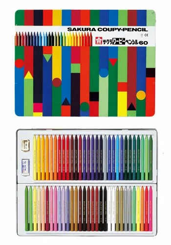 サクラクレパス クーピーペンシル 60色 FY60【楽ギフ_包装】【楽ギフ_のし宛書】