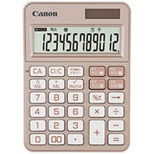 Canon カラフル電卓(12桁) ミニ卓上 KS−125WUC−PK