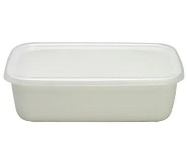 【タイムセール】野田琺瑯 ホワイトシリーズ レクタングル深型L シール蓋付 Lサイズ WRF-L