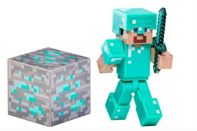 Minecraft 3インチ アクションフィギュア ダイヤモンド スティーブ マインクラフト Steve with Diamond Armor Action Figure 人形 ダイアモンド