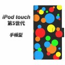 iPod touch(第5世代) スマホケース手帳型/レザー/ケース / カバー【076 ドット(大阪のおばちゃん)】(アイポッドタッチ/手帳式)