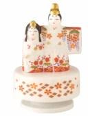 オルゴール 立雛 出産祝 陶器 桃の節句 雛祭 内祝 誕生日 お雛様 お雛さま おひな様 雛人形 ひな人形