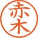 【シヤチハタ】 ネーム6既製 XL-6 0024 赤木 ★ポイント10倍★