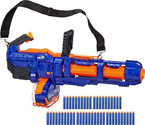 ナーフ FORTNITE アメリカ 直輸入 ダーツ 【送料無料】NERF Elite Titan CS-50 Toy Blaster -- Fully Motorized, 50-Dart Drum, 50 Official Elite Darts, Spinning Barrel -- for Kids, Teens, Adultsナーフ FORTNITE アメリカ 直輸入 ダーツ