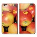 らくらくスマートフォン F-42A スマホ ケース 手帳型 ベルトなし フルーツ 果物 リンゴ 林檎 a……