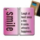 らくらくスマートフォン F-42A スマホ ケース 手帳型 ベルトなし 英語 名言 smile 笑顔 幸福 ……