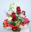 大切なあなたに 生花 アレンジ クリスマス 花束 フラワーギフト 花の贈り物 誕生日 お祝い 開店祝い 出産祝 内祝い プレゼント