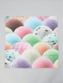 HIPSHOP HIPSHOP/(U)アイスクリーム,ショートケーキ,ボールガムハンカチ ヒップショップ ファッショングッズ ハンカチ/タオル レッド