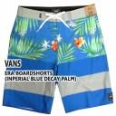 値下げしました!VANS/バンズ ERA BOARDSHORTS INPERIAL BLUE DECAY PALM 男性用 サーフパンツ ボードショーツ サーフトランクス 海水..