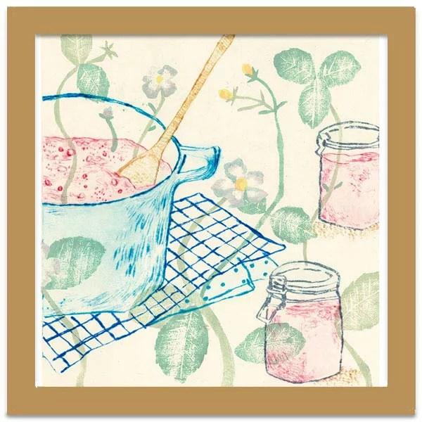 sweet strawberry jam【山路絵子】アートフレーム 絵 壁掛け インテリア おしゃれ 額入り 絵画 アート ポス...