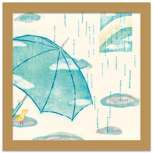花時雨【山路絵子】アートフレーム 絵 壁掛け インテリア おしゃれ 額入り 絵画 アート ポスターコンパクト...