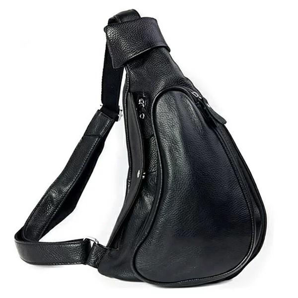 TIDING 潮牛 ボディバック 本革 メンズ ワンショルダーバッグ 斜めがけバッグ マチ拡張 牛革