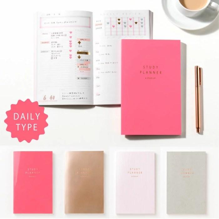 スタディプランナー STUDY PLANNER 手帳 勉強 計画 受験 韓国 ステーショナリー スケジュール かわいいおしゃれ ピンク (gss)
