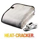 ヒートクラッカー 洗える 電気毛布 掛け毛布 シングル フランネル 毛布 タイマー付き 掛け敷き兼用 自動OFF 送料無料