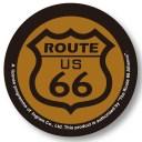 【メール便可】缶バッチ Route 66/B (ルート66 バッジ)【アメリカ合衆国の国道66号線 マザーロードルート66 道路標識 グッズ】