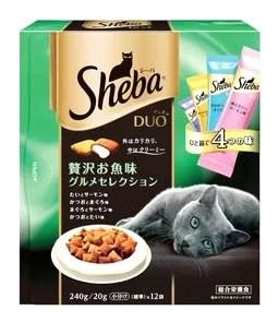 マースジャパン シーバ デュオ 贅沢お魚味グルメセレクション (240g) 成猫用 ドライ キャットフード