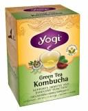 コンブチャ(コンブ茶) 16ティーバッグ×1箱 yogi tea(ヨギティー)のKombucha(こんぶちゃ、こんぶ茶)オーガニック緑茶と紅茶キノコ..