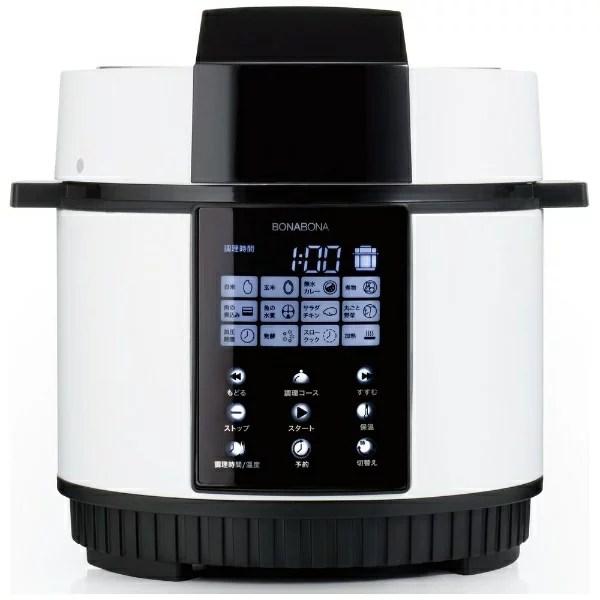 CCP シーシーピー 電気圧力鍋 BONABONA ホワイト BD-PC71-WH