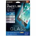 【ポイント10倍!7月15日(月)0:00〜23:59まで】エレコム TB-A18RFLGGBL 9.7インチ iPad 2018年モデル用 保護ガラスフィルム 0.33mm BL..