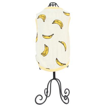 도그아이 편안한순면 바나나티셔츠, 노랑색