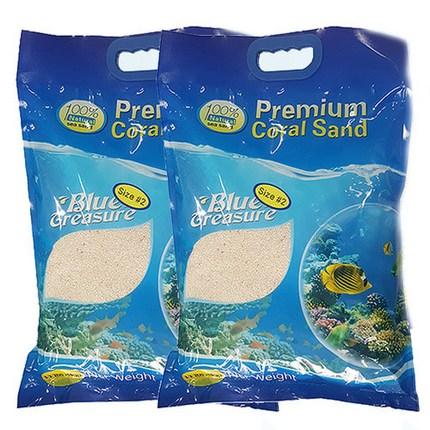블루트레져 산호 모래 1~2mm 5kg, 2개입
