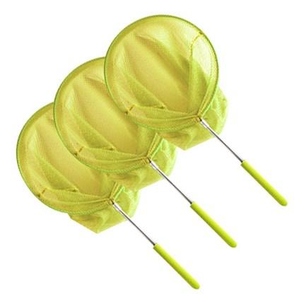 고운물 스테인레스 접이식 대형 곤충뜰채 노랑, 3개입