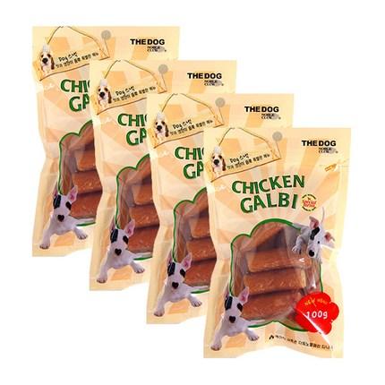 더독 강아지 치킨 갈비 스낵, 닭고기, 4개입