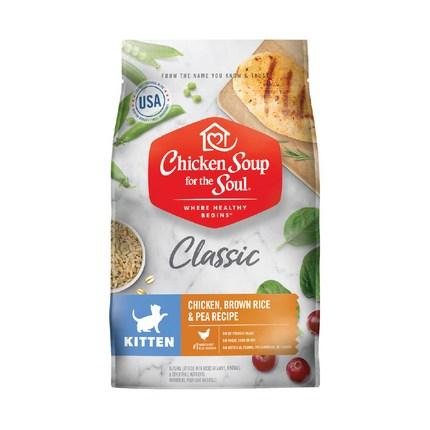 치킨수프 클래식 키튼 닭고기 현미와 완두 콩 고양이 건식사료, 닭, 2.04kg