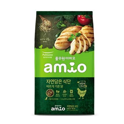 아미오 전연령용 자연담은 식단 강아지 건식사료, 닭, 5.2kg