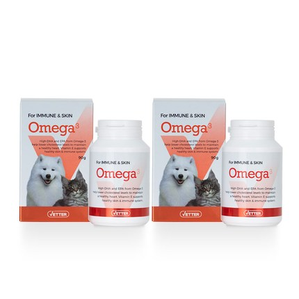 베터 강아지 고양이 오메가 90g, 면역 피부건강, 2개