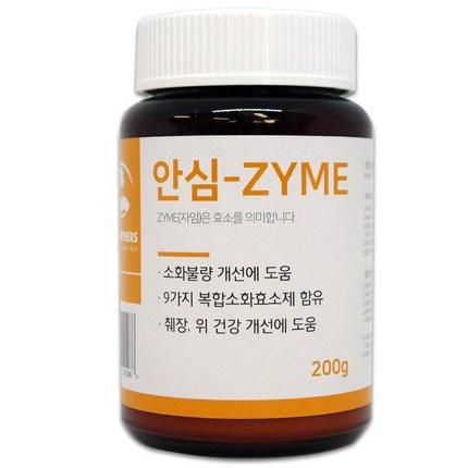 펫파트너스 강아지 고양이 구토 설사 췌장염 위 건강개선 소화효소제 안심-ZYME (200g)