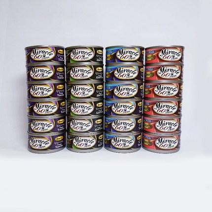 반려묘 고양이간식 고양이캔 국물이 있는 미라클 그레이비 60g 24캔 4가지맛, 4가지맛혼합